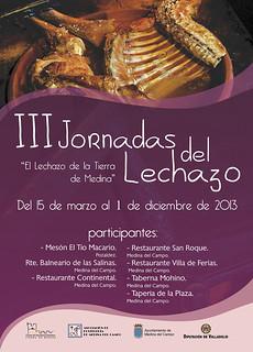 Cartel de las III Jornadas del Lechazo.