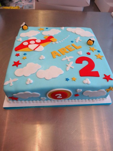 Airplane theme Children's Cake by CAKE Amsterdam - Cakes by ZOBOT