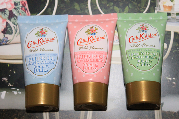 A review of Cath Kidston Wild Flowers hand cream in Bluebell, Wild Rose and Honeysuckle