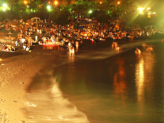 Midnight Bathing, Midsummer, Puerto de la Cruz, Tenerife