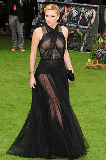 Charlize Theron Sheer Dress Celebrity Style Women's Fashion