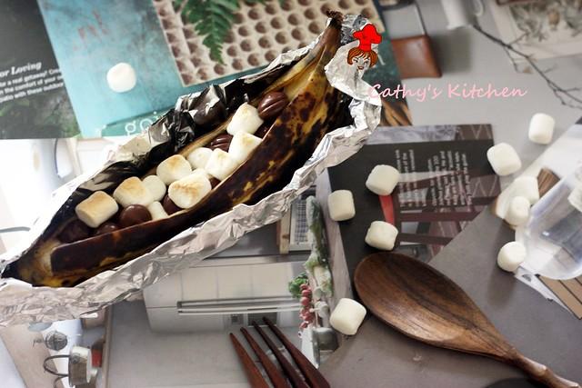 香蕉綿花兒一條船 Grilled banana 1