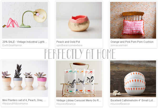 Etsy favourite lists : 'perfectly at home' curated by Emma Lamb