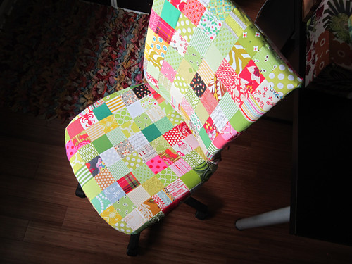 patchwork covered Ikea chair