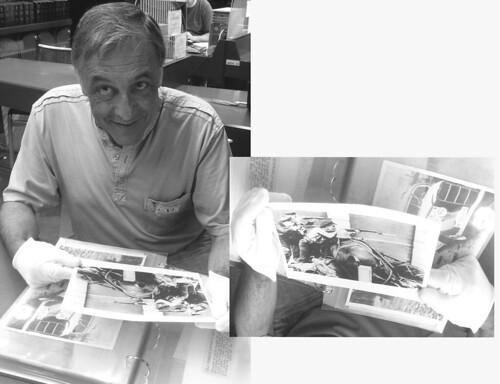 La feina ben feta, el trabajo bien hecho, con la foto del fondo José Mario Armero en la sede del CDMH en Salamanca. by Octavi Centelles