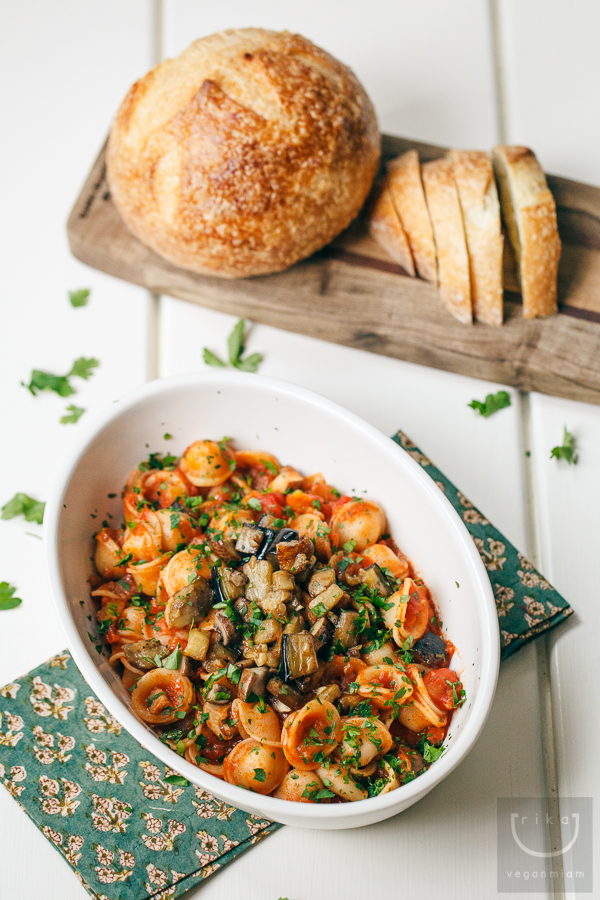 Vegan Orecchiette + Italian Veggie Marinara