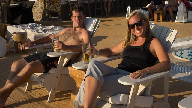 Refreshing swim and drinks at the Liostasi Hotel in Ios Town