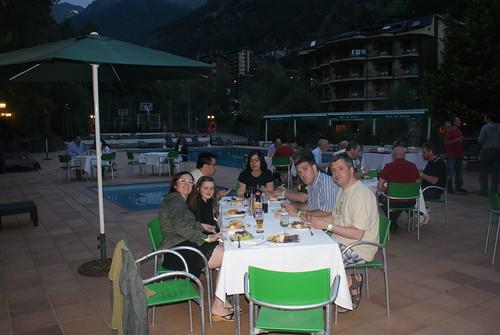 Barbacoa piscina Hotel Sant Gothard