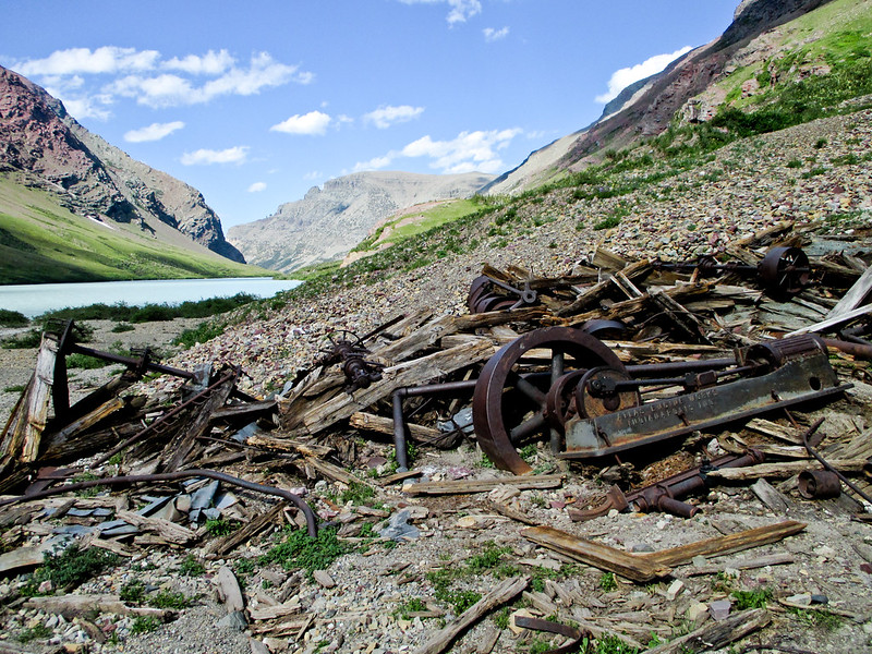 Old Mining Equipment at Cracker Lake