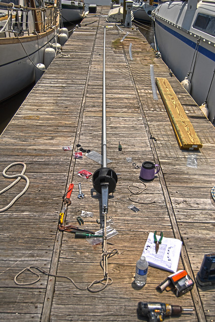 The S/V Joy Gets New Harken Furling System