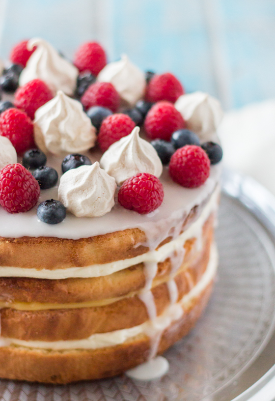 Layered Lemon Sponge Cake Recipe