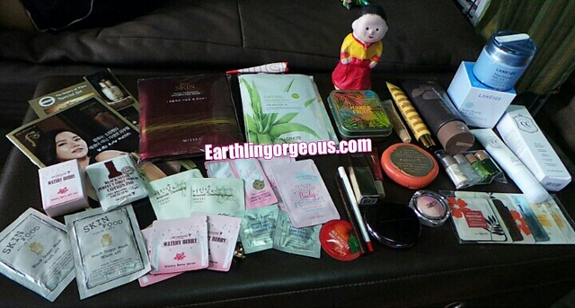Beauty haul straight from Korea at Earthlingorgeous