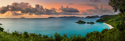 sunset panorama beach beautiful st john landscape island bay paradise trunk d800 usvi