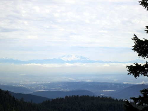 Mount Baker from the peak of Grouse Mountain