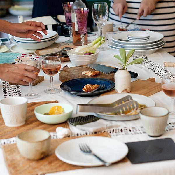 美麗的餐桌和食器