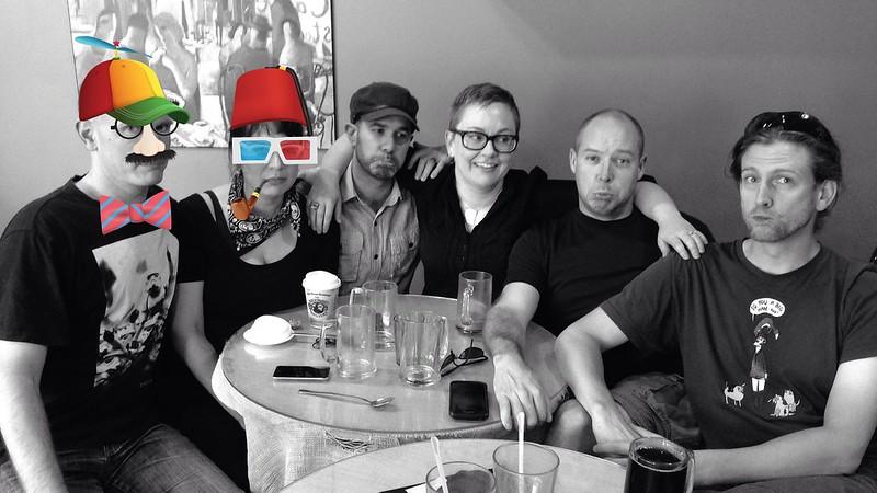 S, C, Aidan, me, Drew, and Geof