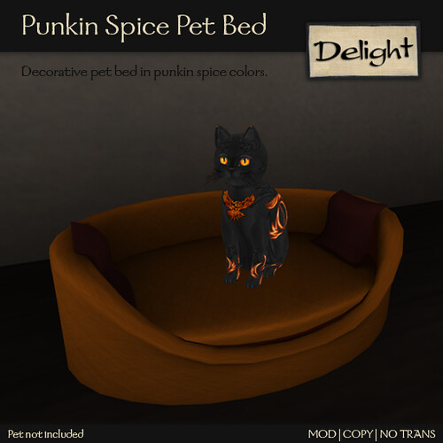 Punkin Spice Pet Bed @ ScratchN Post CreatioNs Hunt