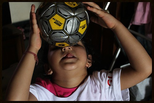 Football Marathon Girl Marziya Shakir 4 Year Old by firoze shakir photographerno1