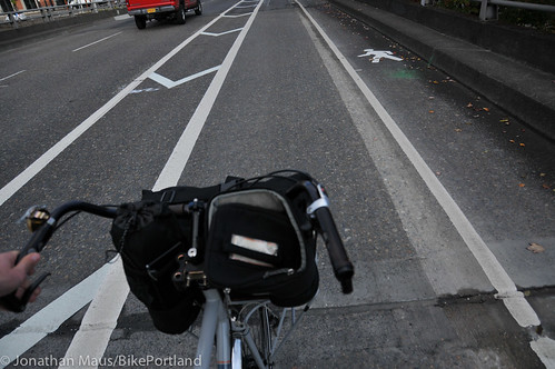 New bike lane on Hawthorne Bridge viaduct-6
