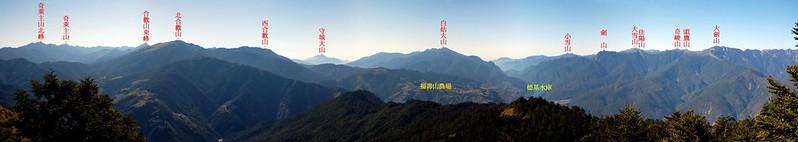 閂山頂展望寬景圖(南至西北) 1