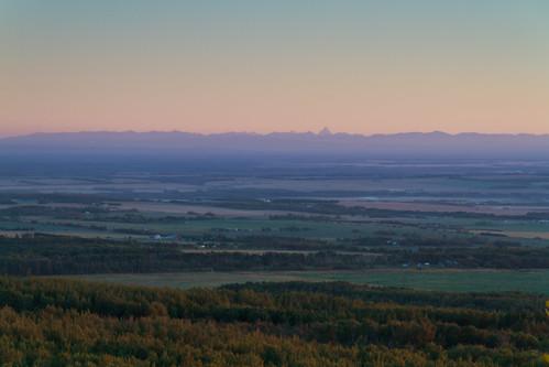 sunset mountain canada landscape grande scenery dusk alberta prairie beaverlodge