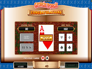 Rhyming Reels - Georgie Porgie Bonus Game