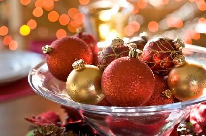 Adornos para decorar la mesa de navidad