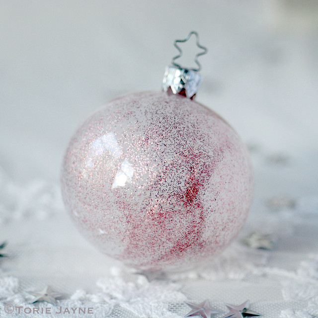 Hand Glittered bauble