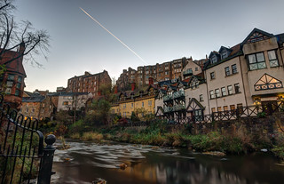Sunrise Over The Water of Leith at Dean Village, Edinburgh