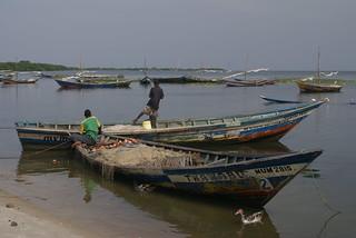 Fishing boats on Lake Victoria