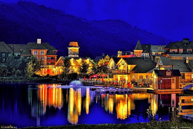 Blue Mountain Village at Blue Hour
