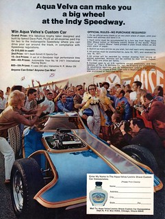 1971 Aqua Velva Advertising Road & Track June 1971
