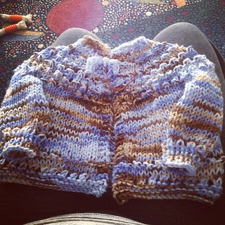 Sweater for a special baby boy finished and ready to gift.