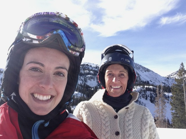 Skiing with Mom