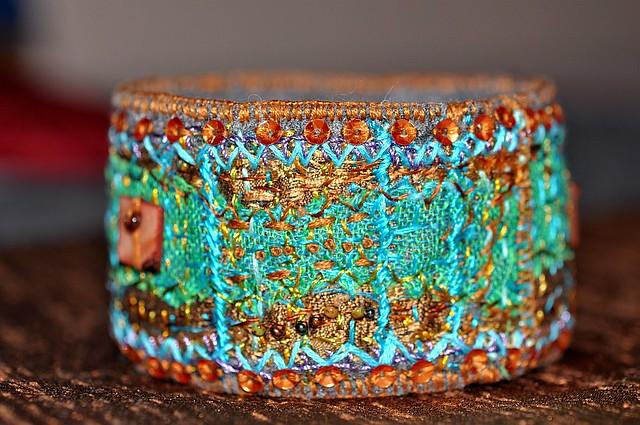 fiber art brancelet2