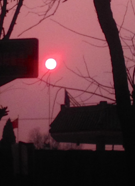 The rare winter sunset in Suzhou