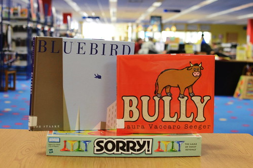 Bluebird by Bob Staake and Bully by Laura Vaccaro Seeger