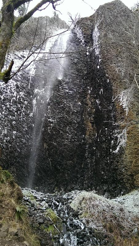 Frozen Cape Horn Falls