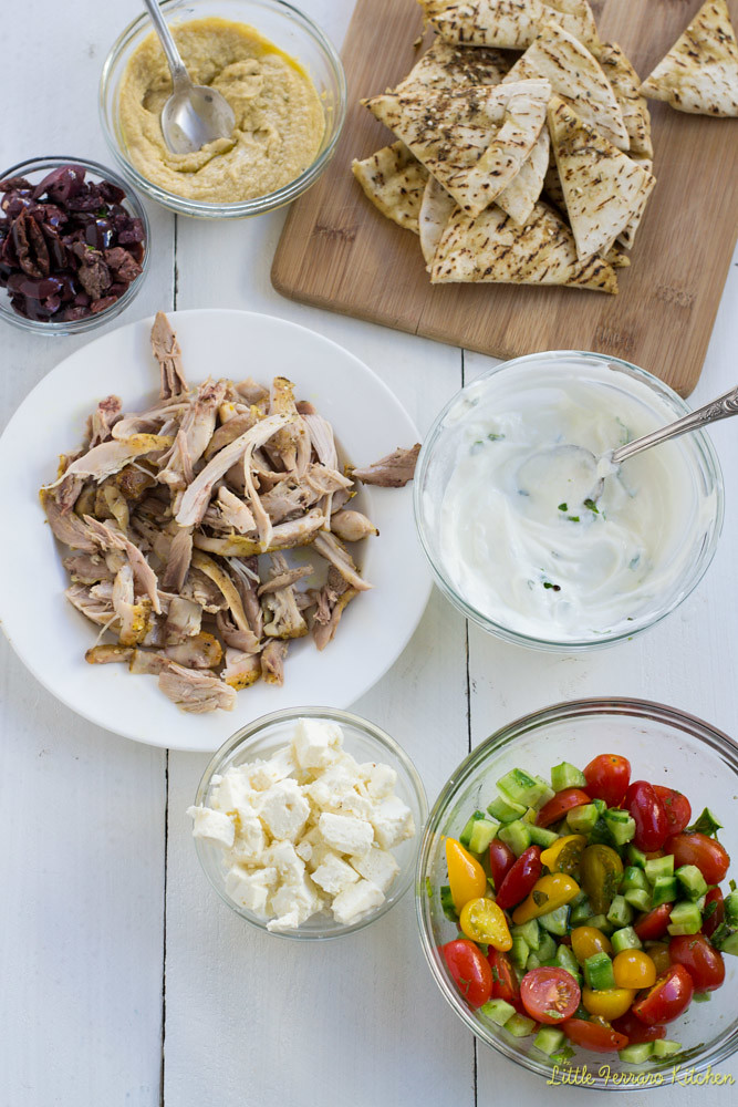 Mediterranean Nachos for Game Day #SundaySupper via LittleFerraroKitchen.com