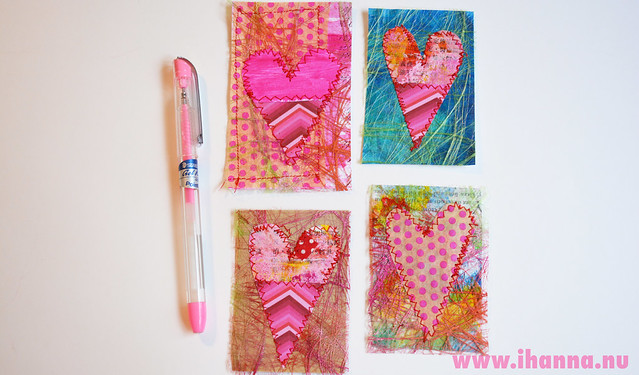 Mixed Media Valentine tags 2014