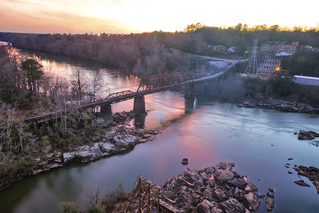 Dusk on The Tallapoosa (River) - From atop the Fitzpatrick Bridge in Tallassee, AL