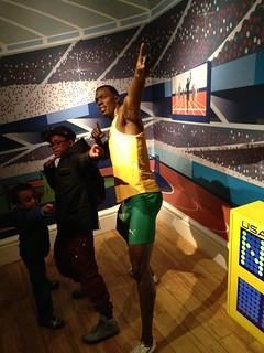 Usain Bolt figure at Madame Tussauds London