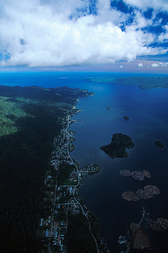 Queen Charlotte City on Bearskin Bay, Graham Island, Haida Gwaii (Queen Charlotte Islands), British Columbia, Canada