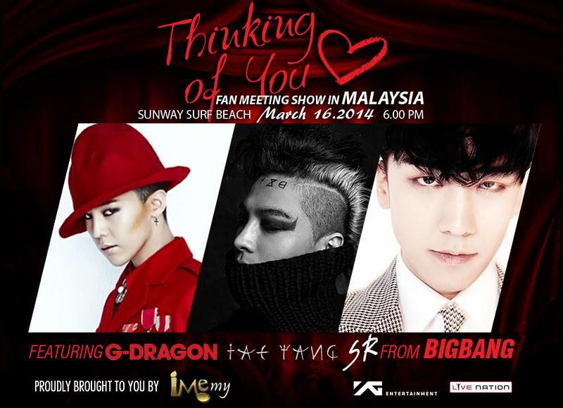 Fan Meeting G-Dragon Taeyang &Amp; Seungri Di Malaysia