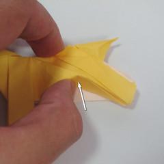 สอนวิธีพับกระดาษเป็นรูปลูกสุนัขยืนสองขา แบบของพอล ฟราสโก้ (Down Boy Dog Origami) 114