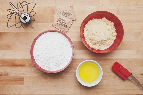 Ingredients for Making Valentine's Day Salted Caramel Macarons