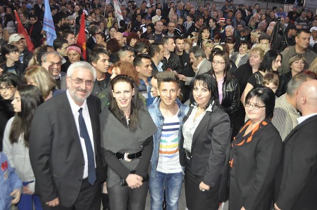 Кликни за фотогалерија - Голем митинг на ГРОМ во Велес