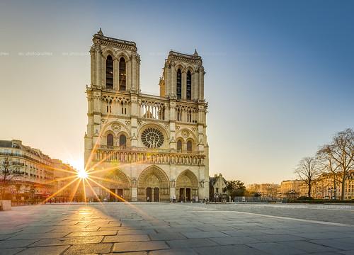 sun paris france sunrise canon eos soleil notredame cathédrale lensflare 5d hdr matin monring ef1635mm 5dmark3