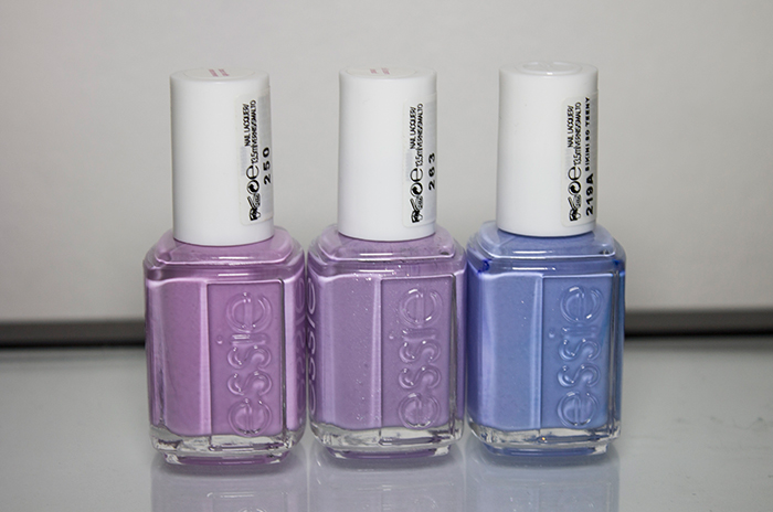 Essie Bond With Whomever, Essie Full Steam Ahead, Essie Bikini So Teeny