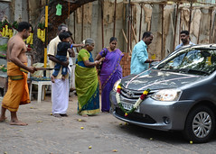 Blessing a new car, Pondicherry